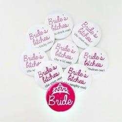 """Bride's Bitches"" Κονκάρδες 11τμχ"