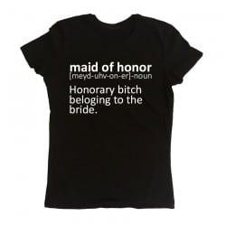 """Dictionary Maid of Honor"" Μαύρο κοντομάνικο για την κουμπάρα"