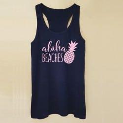 """""""Aloha Beaches"""" Μαύρο bachelorette τιραντάκι"""