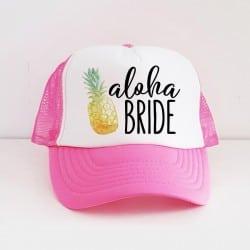"""Aloha Pineapple"" Φούξια Bachelorette Καπέλο Νύφης"