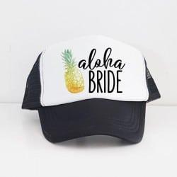 """Aloha Pineapple"" Μαύρο Bachelorette Καπέλο Νύφης"