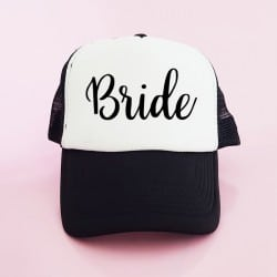 """Bride"" Μαύρο Bachelorette Καπέλο Νύφης"