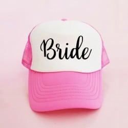 """Bride"" Φούξια Bachelorette Καπέλο Νύφης"
