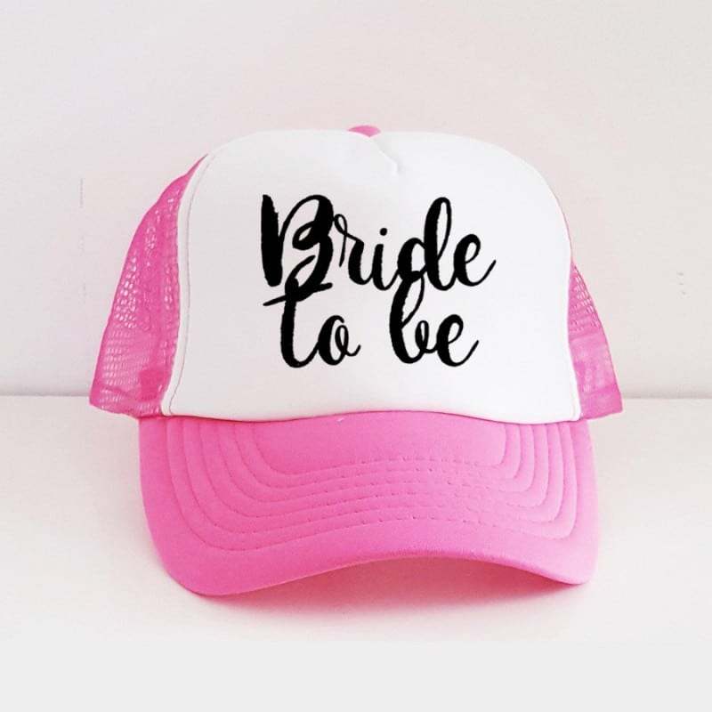 """Bride to be"" Φούξια Bachelorette Καπέλο Νύφης"