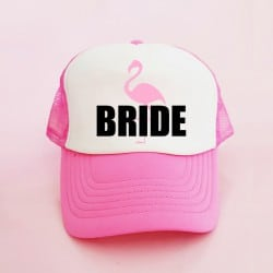 """Flamingo Bride"" Φούξια Bachelorette Καπέλο Νύφης"