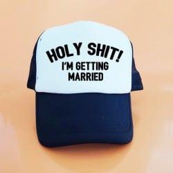 """Holy Shit"" Μαύρο Bachelorette Καπέλο Νύφης"