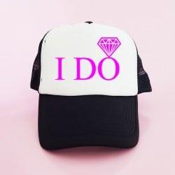 """""""I Do"""" Μαύρο Bachelorette Καπέλο Νύφης"""