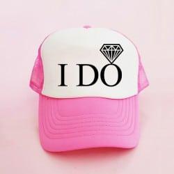 """I Do"" Φούξια Bachelorette Καπέλο Νύφης"
