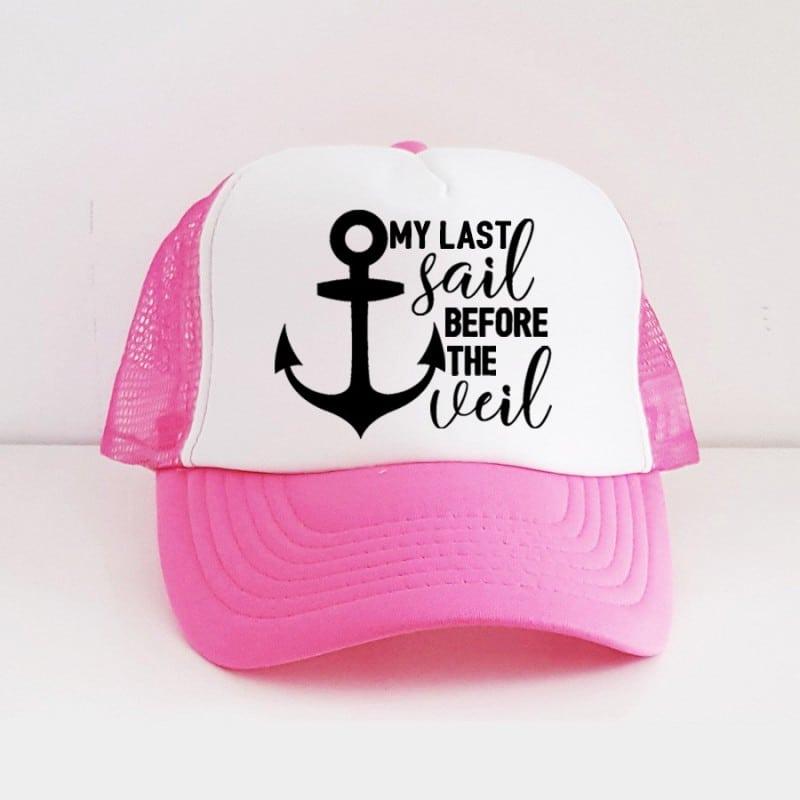"""Last Sail"" Φούξια Bachelorette Καπέλο Νύφης"