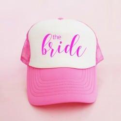 """The Bride"" Φούξια Bachelorette Καπέλο Νύφης"
