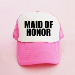 """Maid of Honor"" Φούξια Bachelorette Καπέλο για την κουμπάρα"