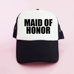 """Maid of Honor"" Μαύρο Bachelorette Καπέλο για την κουμπάρα"