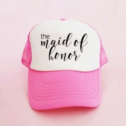 """The Maid of Honor"" Φούξια Bachelorette Καπέλο για την κουμπάρα"