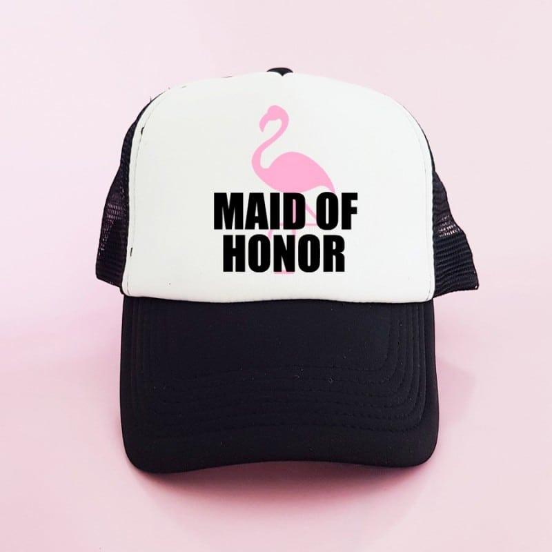 """Flamingo"" Μαύρο bachelorette Καπέλο για την κουμπάρα"