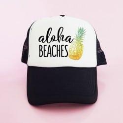 """Aloha Pineapple"" Μαύρο bachelorette καπέλο για τις φίλες της νύφης"