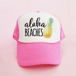 """Aloha Pineapple"" Φούξια bachelorette καπέλο για τις φίλες της νύφης"