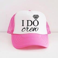 """I Do Crew"" Φούξια bachelorette καπέλο για τις φίλες της νύφης"