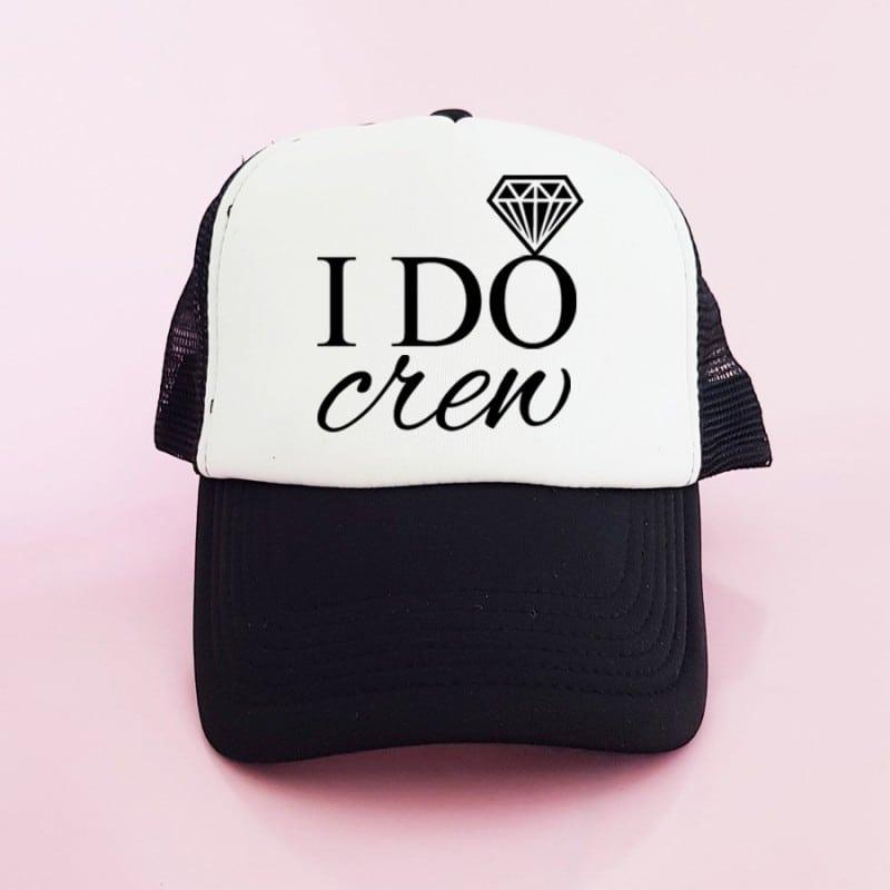 """""""I Do Crew"""" Μαύρο bachelorette καπέλο για τις φίλες της νύφης"""