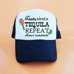 """Fiesta, Siesta, Tequila"" Μαύρο bachelorette καπέλο για τις φίλες της νύφης"