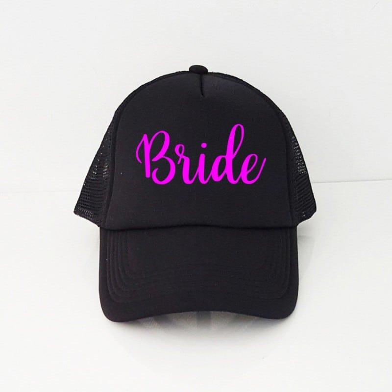 """""""Bride"""" Μαύρο jockey καπέλο νύφης"""