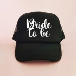"""""""Bride to be"""" Μαύρο jockey καπέλο νύφης"""