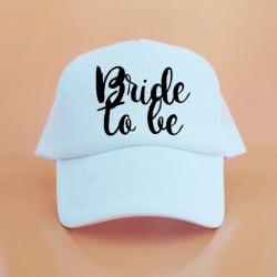 """Bride to be"" Λευκό jockey καπέλο νύφης"