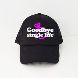 """Goodbye Single Life"" Μαύρο jockey καπέλο νύφης"