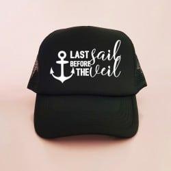 """""""Last Sail"""" Μαύρο bachelorette jockey καπέλο"""