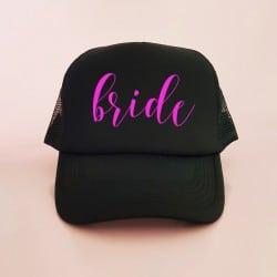"""The Bride"" Μαύρο jockey καπέλο νύφης"