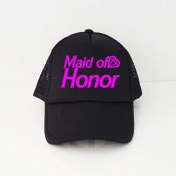 """Barbie Maid of Honor"" Μαύρο jockey καπέλο για την κουμπάρα"