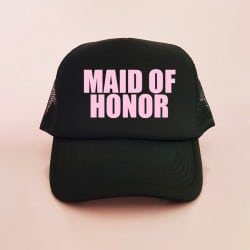 """Maid of Honor"" Μαύρο jockey καπέλο για την κουμπάρα"