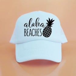 """Aloha Pineapple"" Λευκό bachelorette καπέλο για τις φίλες"