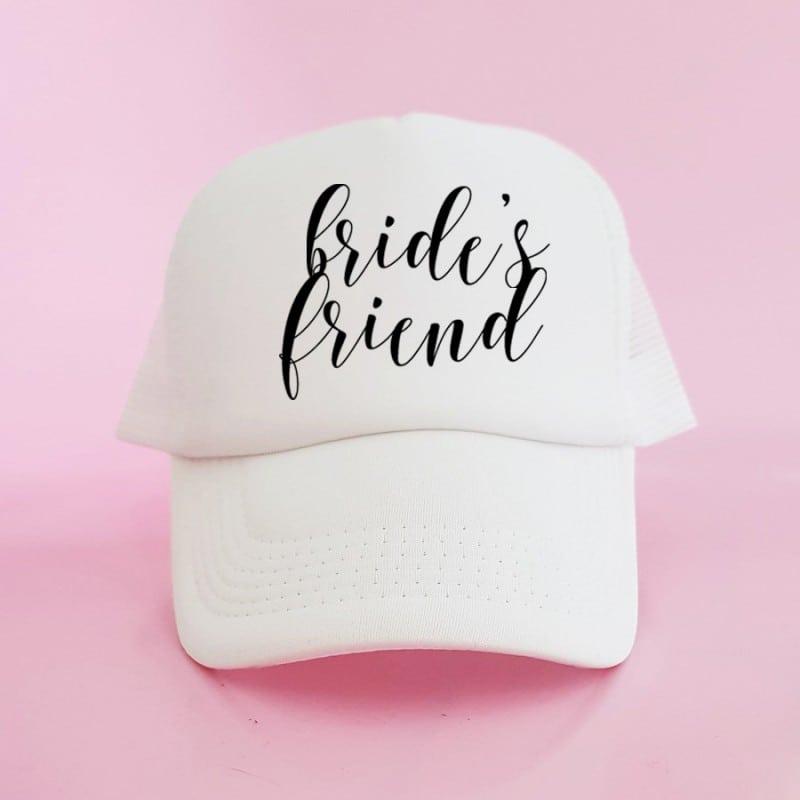 """""""The Friend"""" Λευκό bachelorette καπέλο για τις φίλες"""