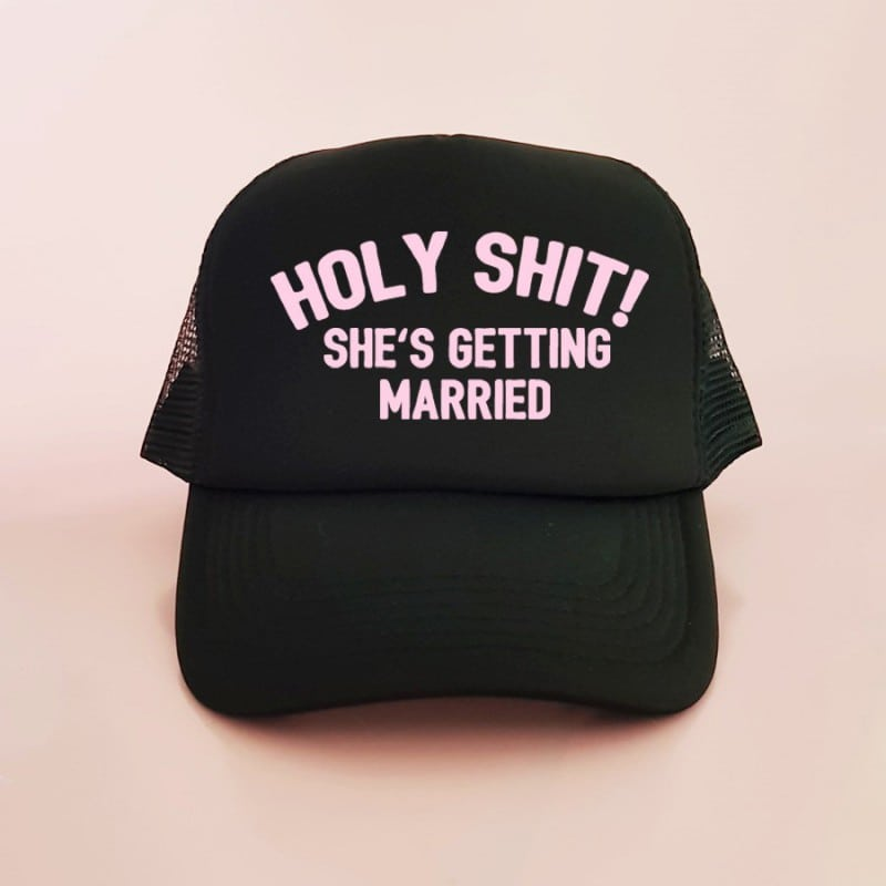 """Holy Shit"" Μαύρο bachelorette καπέλο για τις φίλες"