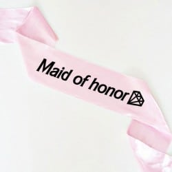 """Barbie Maid of honor"" Bachelorette Κορδέλα"