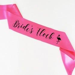 """Flamingo Flock"" Bachelorette Κορδέλα"
