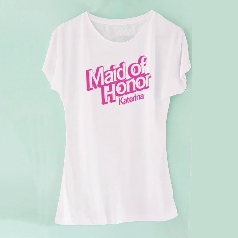 """""""Barbie Maid of Honor"""" Bachelorette Tshirt για την κουμπάρα"""