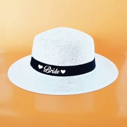 """Heart"" Panama καπέλο νύφης"