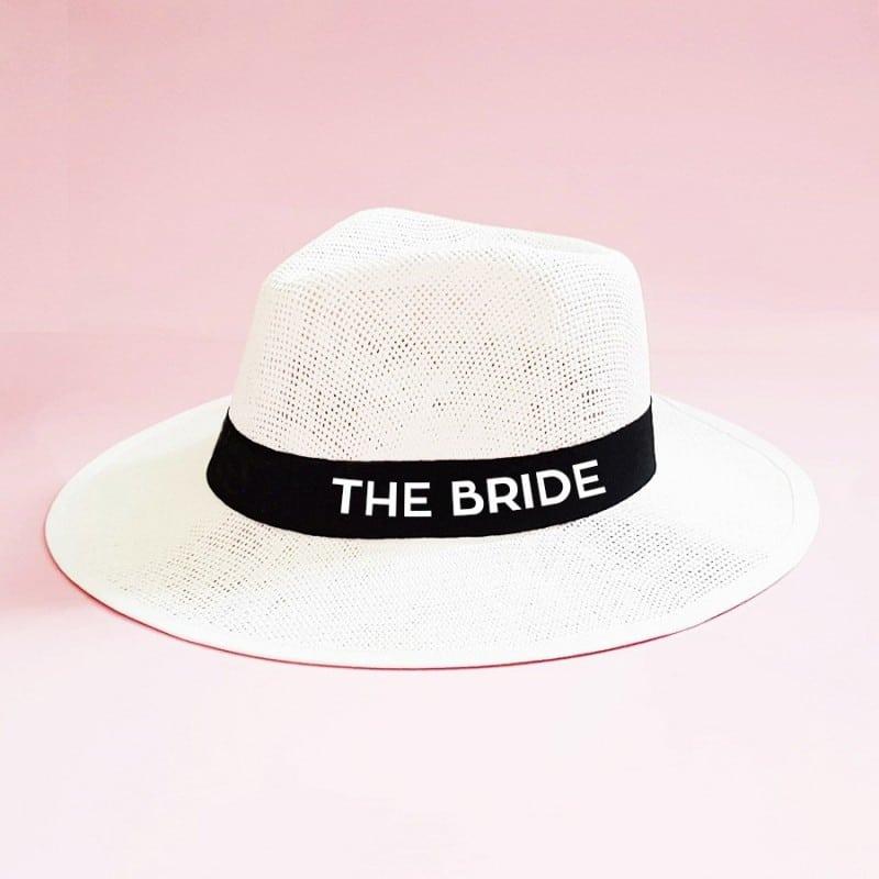 """""""The Bride"""" Λευκό τύπου panama καπέλο νύφης"""