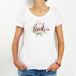 """""""Floral"""" Tshirt για τη Νύφη"""