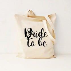 """""""Bride to be"""" Τσάντα νύφης"""