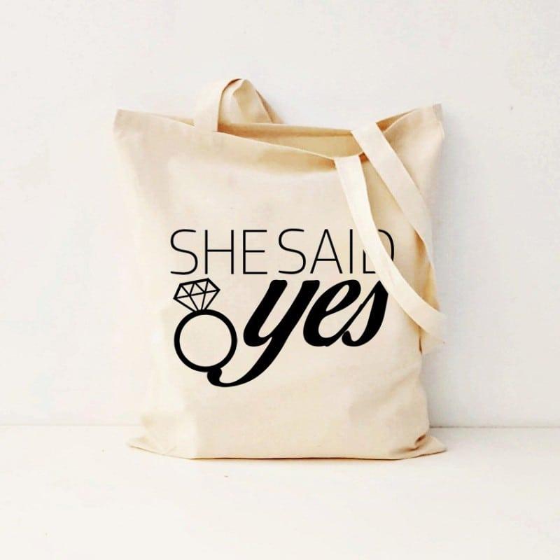"""She Said Yes"" Bachelorette Τσάντα"