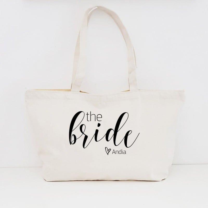 """The Bride"" Τσάντα νύφης με φερμουάρ"