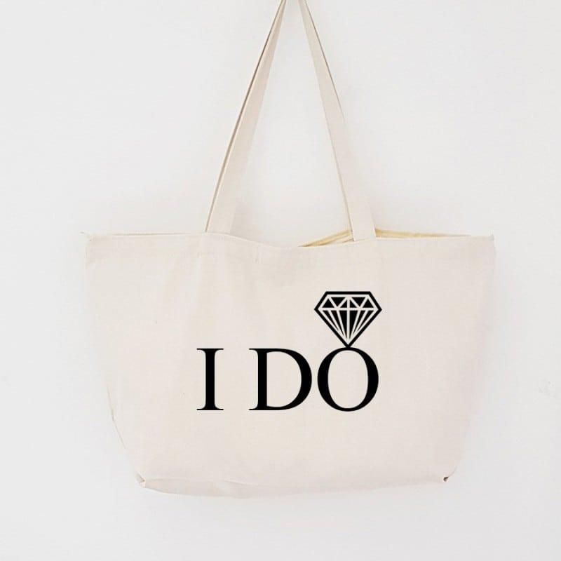 """I DO"" Τσάντα νύφης με φερμουάρ"