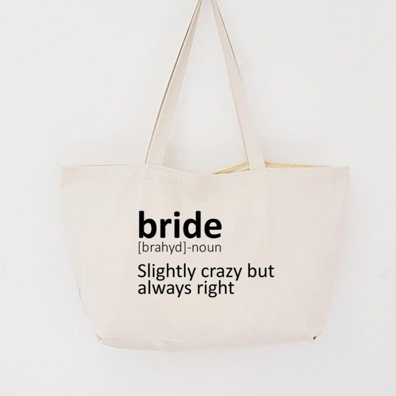 """""""Dictionary"""" Τσάντα νύφης με φερμουάρ"""