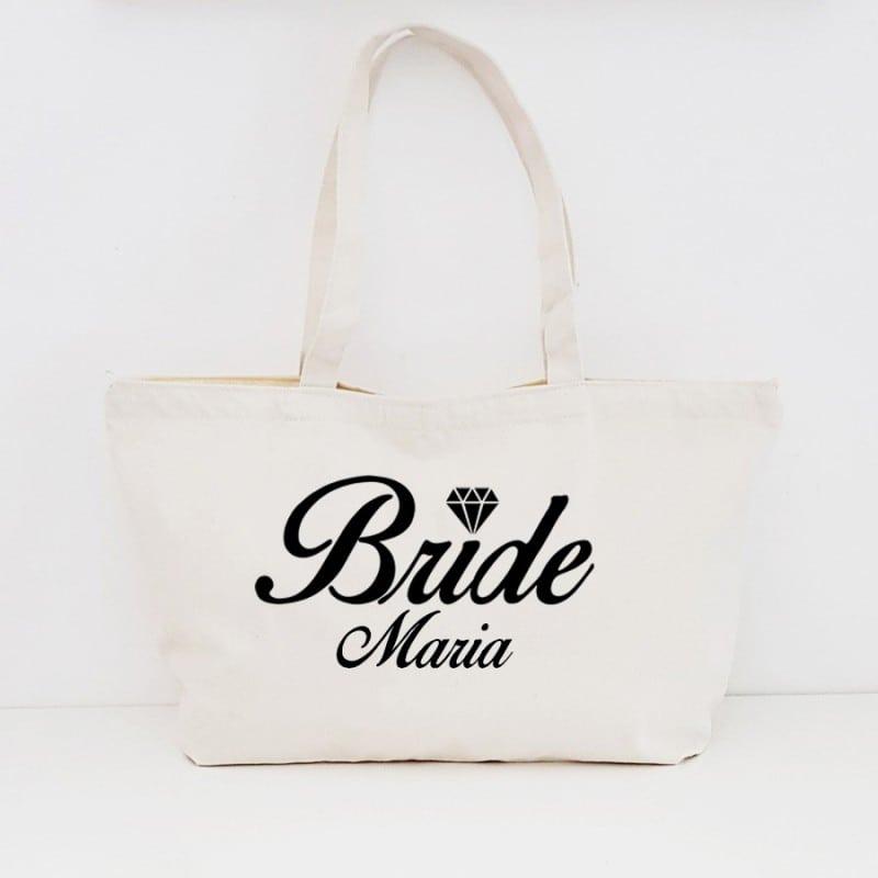 """Diamond"" Τσάντα νύφης με φερμουάρ"