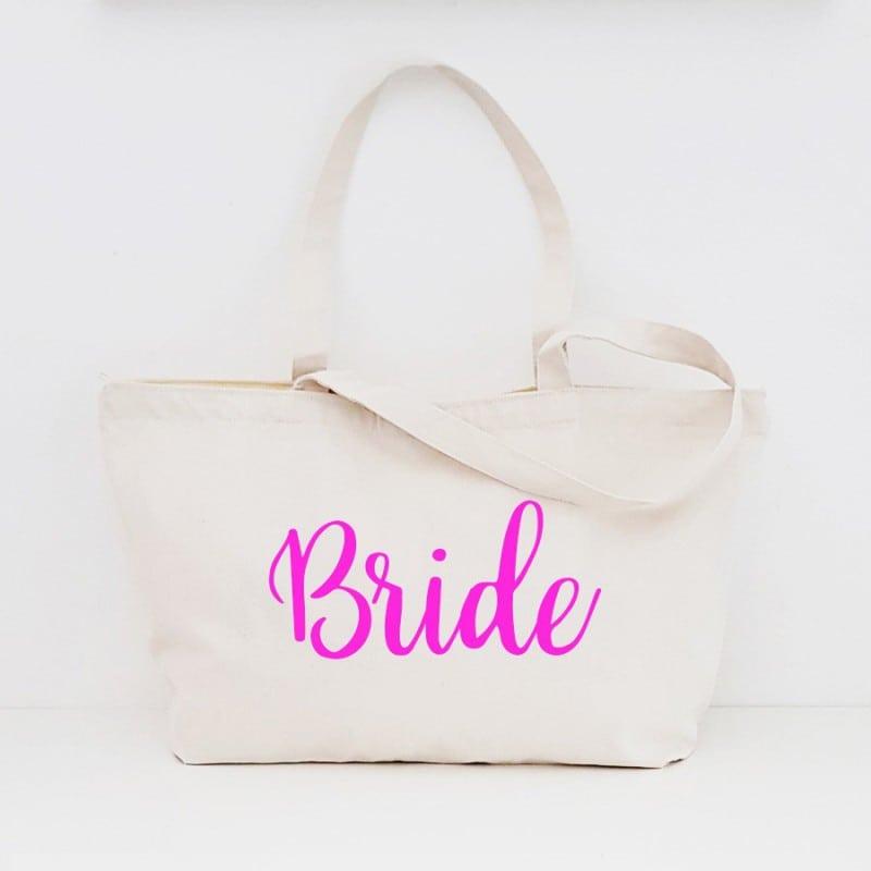 """Bride"" Τσάντα νύφης με φερμουάρ"