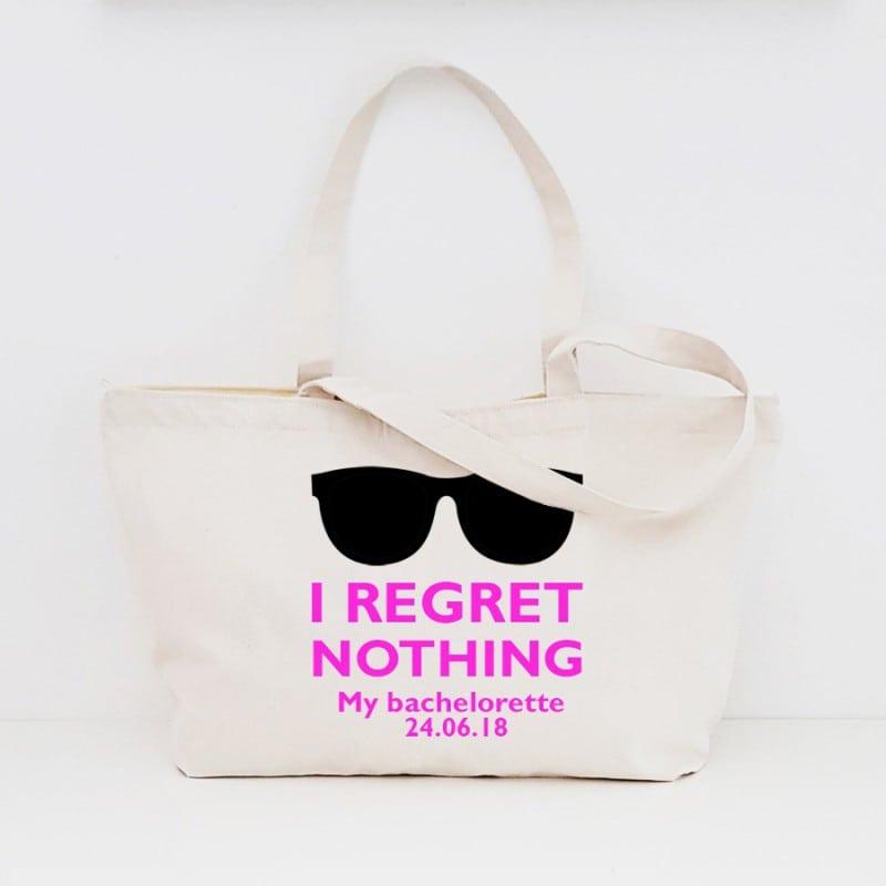 """""""Regret Nothing"""" Τσάντα νύφης με φερμουάρ"""