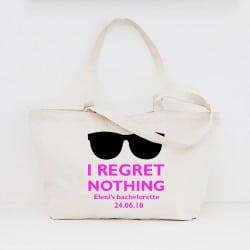 """""""Regret Nothing"""" Τσάντα για τις φίλες με φερμουάρ"""