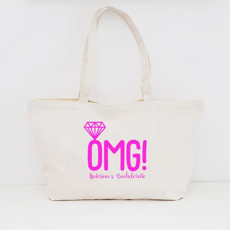 """OMG"" Τσάντα για τις φίλες με φερμουάρ"
